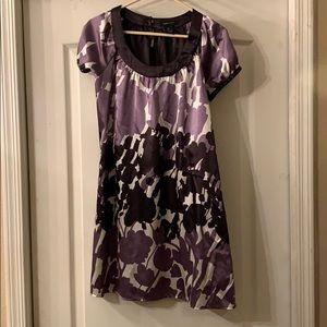 BCBGMaxazria purple and black tunic dress